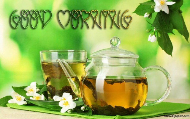 Green Tea In Morning Wallpapers And Backgrounds Green Tea Good Morning 1920x1080 Wallpaper Teahub Io