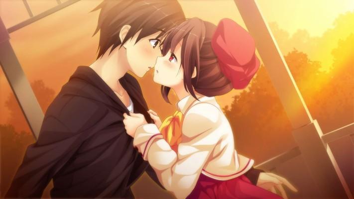 Anime Girl And Boy Wallpaper Hd Romantic Anime Wallpaper Hd 1920x1080 Wallpaper Teahub Io
