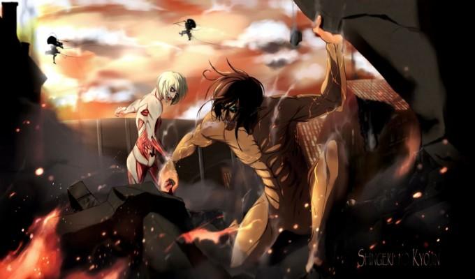 Attack On Titan Landscape 640x960 Wallpaper Teahub Io