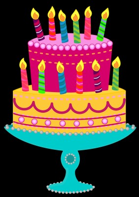 Photo Wallpaper Candles Colorful Cake Cake Happy Happy Birthday Free Background 1332x850 Wallpaper Teahub Io