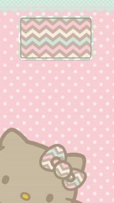 128 1286465 pastel walls hello kitty wallpaper sanrio phone polka
