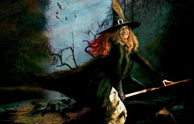 130 1309255 photo wallpaper halloween witch broom black cat halloween