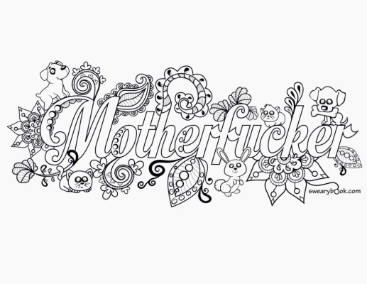 Free Printable Coloring Pages For Adults Swear Words - Coloring Pages For Adults  Curse Words - 1024x791 Wallpaper - Teahub.io