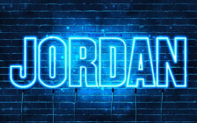 135 1354542 jordan 4k wallpapers with names horizontal text neon