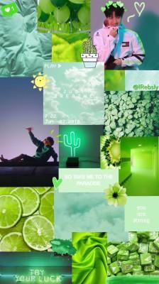 Teal And Lime Green 1000x1000 Wallpaper Teahub Io
