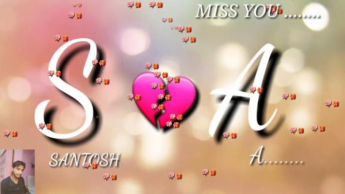 Love Santosh Name 1280x720 Wallpaper Teahub Io
