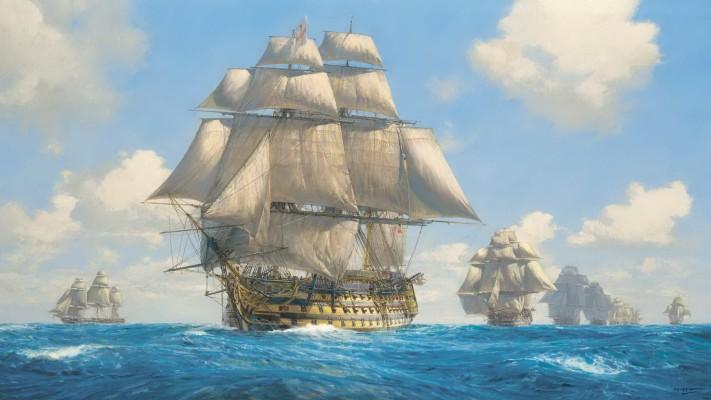 Man O War Ship Art 1920x1080 Wallpaper Teahub Io