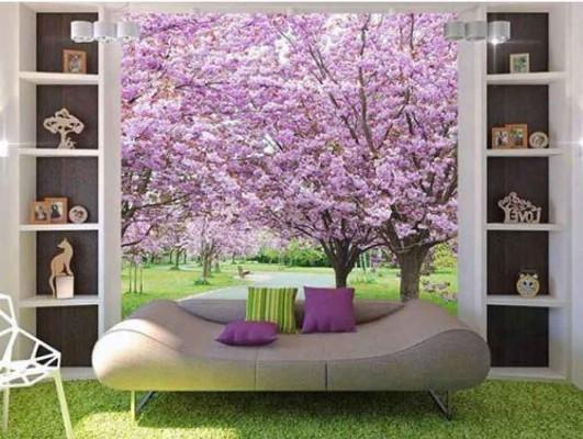 Tree Leaves 3d Wallpaper Almirah Painting Ideas 1000x752 Wallpaper Teahub Io