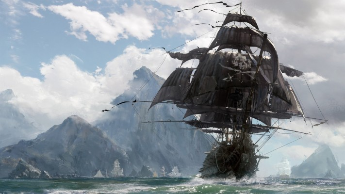 Pirate Ship Sailing ¤ 4k Hd Desktop