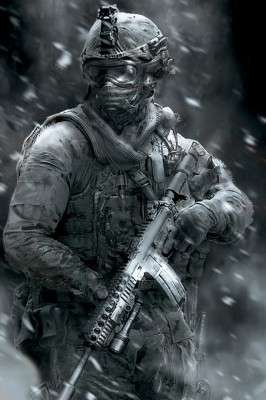 Soldier Monochrome Wallpaper Duty Modern Warfare 2 640x960