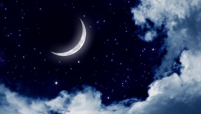 Night Sky Stars Moon Wallpaper | Wallpapers Minimalist