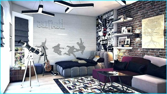 Teen Bedroom Wallpaper Boys Wallpapers Ideas 3 For Brick Wallpaper Boy Bedroom 1108x625 Wallpaper Teahub Io