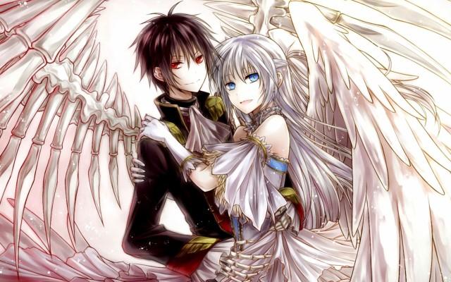 Love Devil And Angel Couple 800x800 Wallpaper Teahub Io