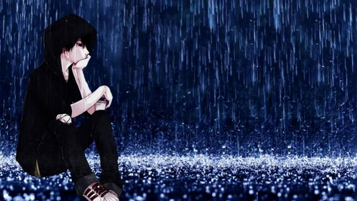 Sad Anime Boy Rain Anime Wallpaper Bad Boy 1920x1080 Wallpaper Teahub Io