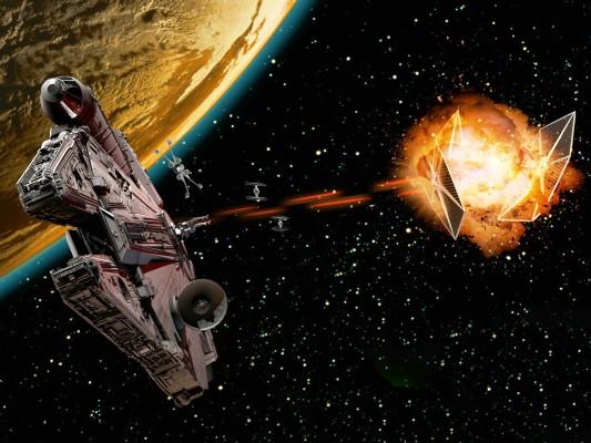 Photo Wallpaper Space Star Wars Art Art Star Wars Millennium Falcon Avatar 1332x850 Wallpaper Teahub Io