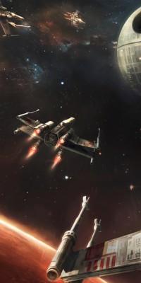 191 1916299 star wars death star x wing galaxy planet