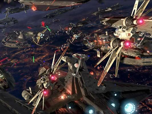 191 1916665 star wars space battle wallpaper battle of coruscant