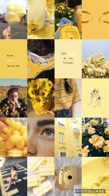 Aesthetic Wallpaper Collage Yellow 580x1024 Wallpaper Teahub Io