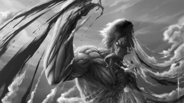 A O T Wings Of Freedom Eren Yeager Attack On Colossal Clipart 820x595 Wallpaper Teahub Io