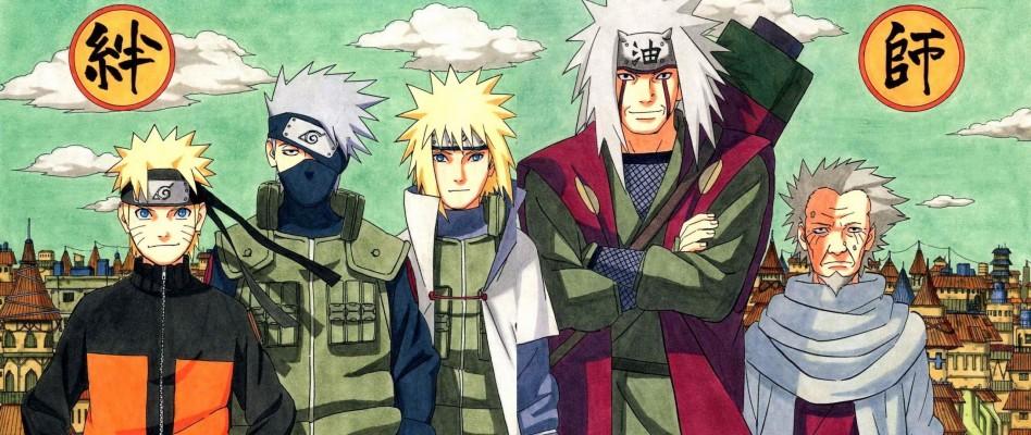 Download Full Hd Naruto Pc Background Id Naruto Kakashi Minato Jiraiya Sarutobi 1920x1080 Wallpaper Teahub Io