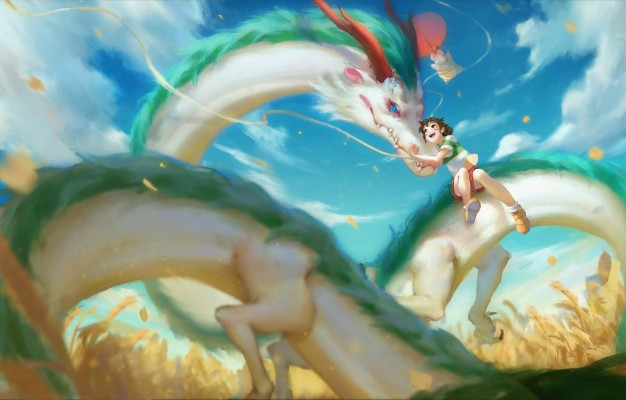Anime Dragon Spirited Away 1920x1080 Wallpaper Teahub Io