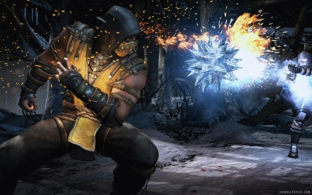 Anime Mortal Kombat Sub Zero Scorpion Wallpaper 1080p