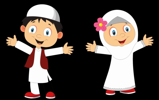 Thumb Image Anak Anak Muslim Kartun 736x1353 Wallpaper Teahub Io
