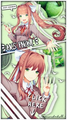 Get Monika Ddlc Wallpaper  PNG