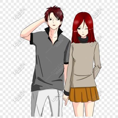 247 2470565 karakter kartun memegang tangan pasangan romantis foto gambar