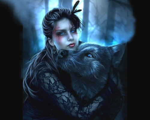 Wolf Fantasy Wallpapers Group Ice Cool Wolf Backgrounds 1125x843 Wallpaper Teahub Io