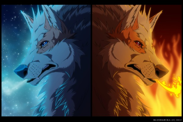 Fire And Ice Wolf Wallpaper Arcanine Fire Wolf And Ice Wolf 1998x1333 Wallpaper Teahub Io