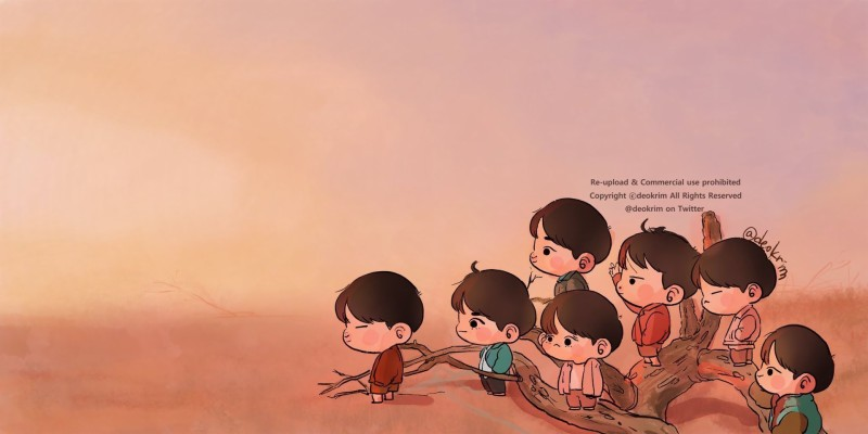 254 2541445 bts chibi wallpaper pc