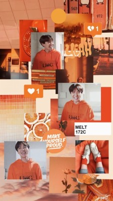 254 2541958 orange bts aesthetic make aesthetic photo collage