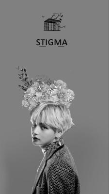 254 2548015 v bts and taehyung image bts v stigma