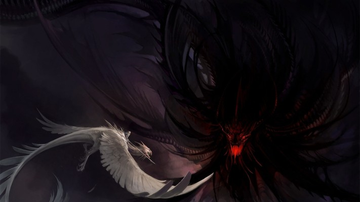 Demon Wolf X Spirit Wolf 1920x1080 Wallpaper Teahub Io