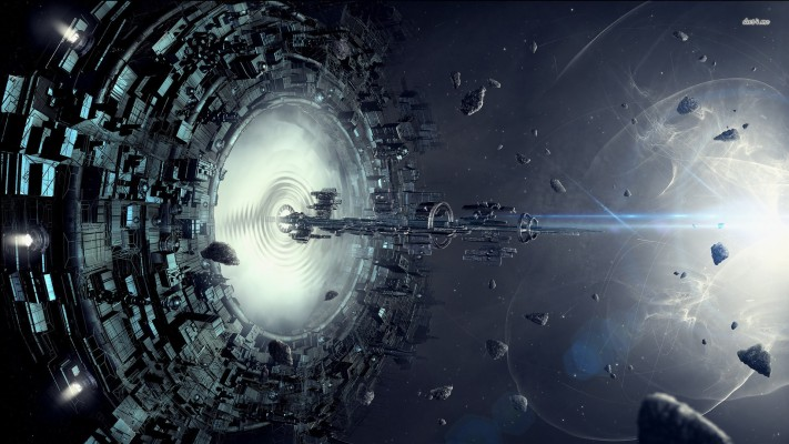 Spaceship Entering Through The Gate 4k Wallpaper Spaceship 1920x1080 Wallpaper Teahub Io