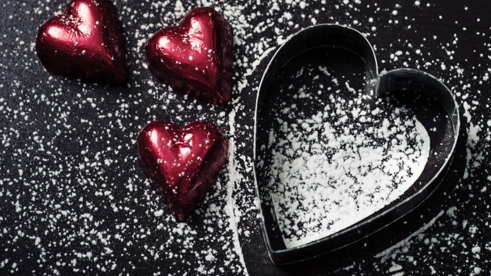 270 2706551 beautiful small heart love in black background black