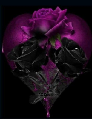 274 2740644 black heart with rose