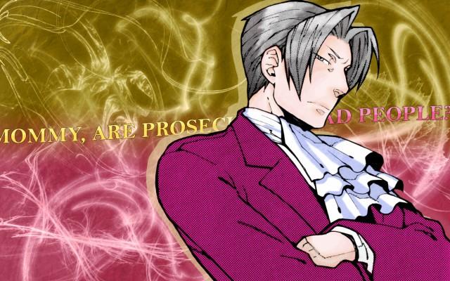 Capcom Ace Attorney Miles Edgeworth Wallpaper Style Cartoon