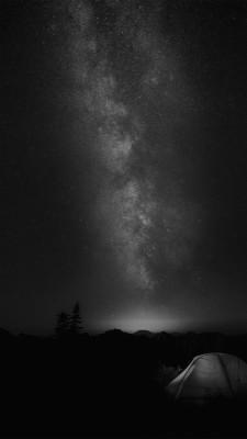 Camping Night Star Galaxy Milky Sky Dark Space Bw Dark Iphone Wallpaper 4k Black 1242x2208 Wallpaper Teahub Io