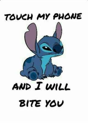 Cute Stitch Dont Touch My Phone 750x1334 Wallpaper Teahub Io