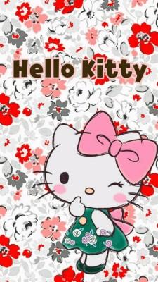 Hello Kitty Black And White 736x1308 Wallpaper Teahub Io