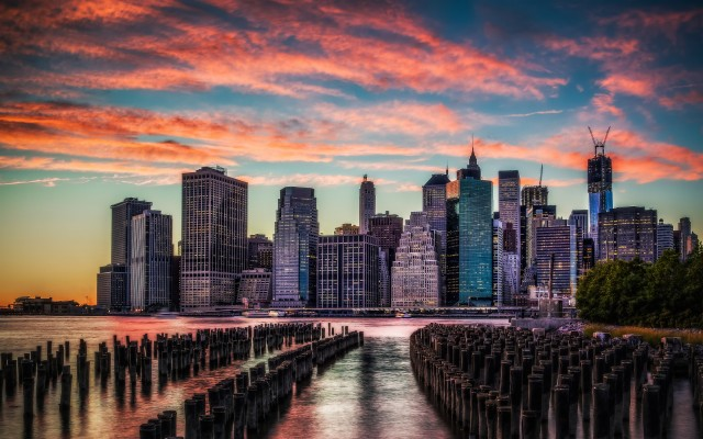 304 3049003 new york skyline sunset