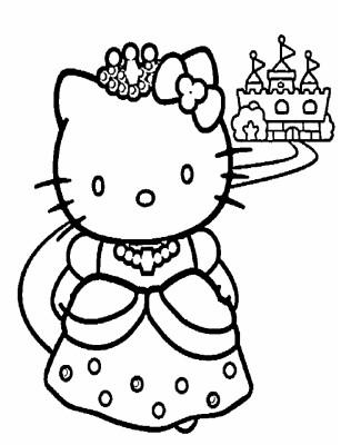 Hellokitty Hitam Putih Unicorn Hello Kitty Coloring