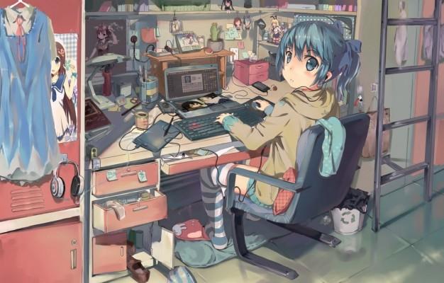 337 3376498 photo wallpaper girl wire anime art laptop misaka