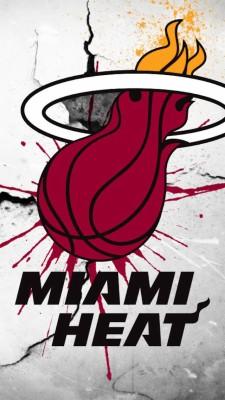 Download Nba Miami Heat Hd Iphone 5 Wallpapers Miami Heat Hd Background 640x1136 Wallpaper Teahub Io