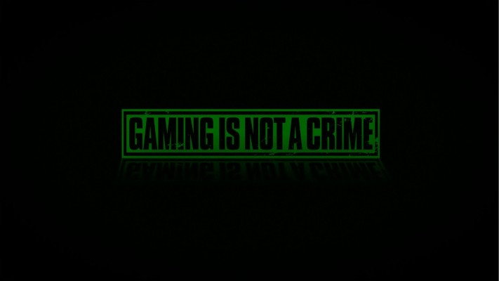 Gaming Is Not a Crime Clip Art