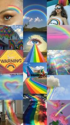 38 382485 user uploaded image rainbow aesthetic collage