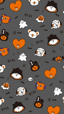 4 40606 bt21 halloween and rj image bt21 wallpaper halloween