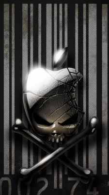 Iphone 7 Apple Skull 640x1136 Wallpaper Teahub Io